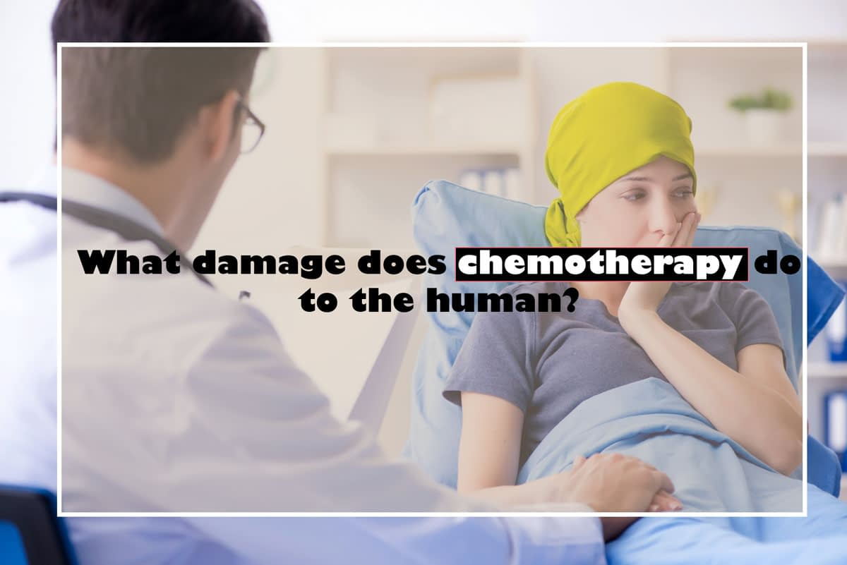 What damage does chemotherapy do to the human?